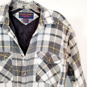 Grand Banks Outfitters Flannel Quilted Jacket
